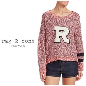 "Rag & Bone Halsted Varsity Letter ""R"" Sweater"